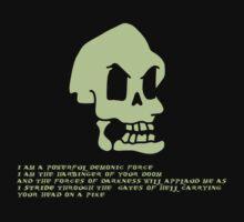 Murray, the invincible demonic skull by snesfreak