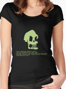 Murray, the invincible demonic skull Women's Fitted Scoop T-Shirt