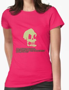 Murray, the invincible demonic skull Womens Fitted T-Shirt