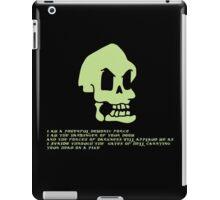 Murray, the invincible demonic skull iPad Case/Skin