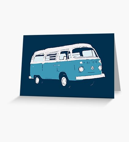 Bay Window Campervan Basic Colours (see description) Greeting Card