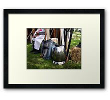 A meal before the battle starts. Framed Print