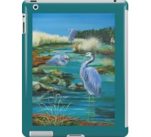 GALLIMAUFRY ~ White-faced Herons in Estuary by tasmanianartist iPad Case/Skin