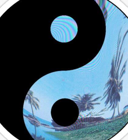 Palm Tree Yin Yang - Tumblr Sticker