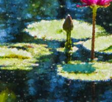 Waterlily Impressions - Dreaming of Monet Gardens Sticker