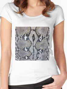 Python snake skin texture design Women's Fitted Scoop T-Shirt