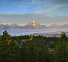The Tetons At Sunrise by Stephen Vecchiotti