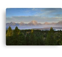 The Tetons At Sunrise Canvas Print