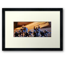 Extraterrestrial army soldiers... Framed Print
