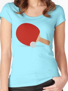 Ping Pong, Bat & Ball Women's Fitted Scoop T-Shirt