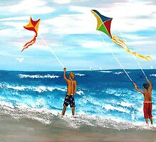 "Mom said...""Go Fly A Kite!!!!!!!"" by WhiteDove Studio kj gordon"