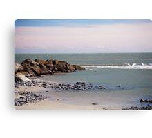 Groin At Folly Beach Canvas Print