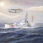 U. S. Coast Guard Cutter Pontchartrain and CG PBY by cgret82