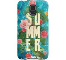 Summer collage with flowers and palm trees Samsung Galaxy Case/Skin
