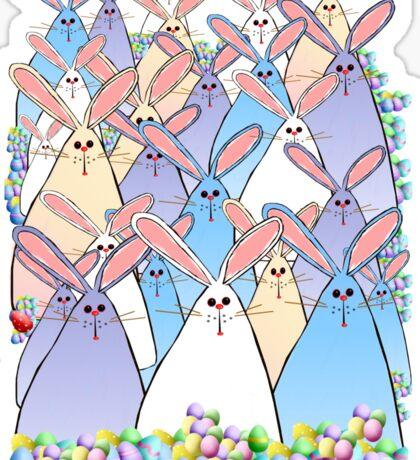 Happy Easter Bunnies Sticker