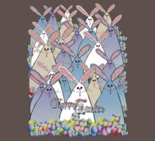 Happy Easter Bunnies Lettered T-Shirt