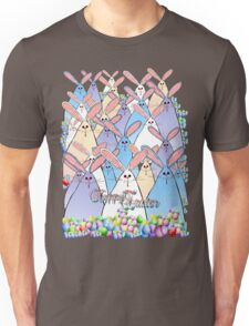 Happy Easter Bunnies Lettered Unisex T-Shirt