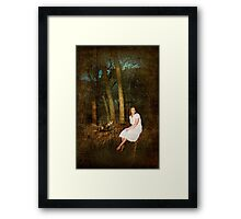 Hangin' Out in the Woods Framed Print