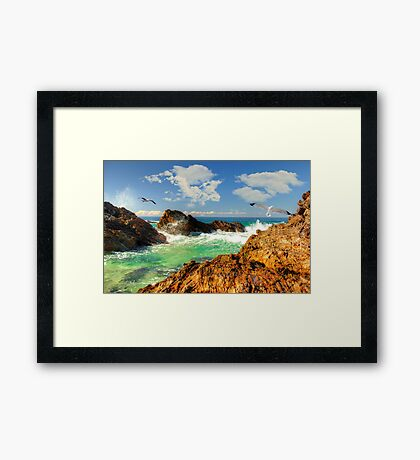 The wonder that is the sea Framed Print