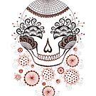 Carnival  Skull by Danielle Reck