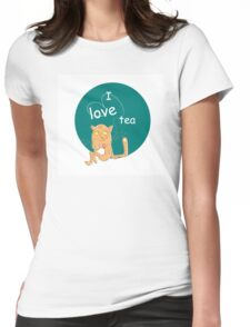 I love tea. Womens Fitted T-Shirt