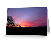 Red Sky in the Morning, Shepherds' Warning Greeting Card