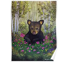 Whimsical Bear Cub Poster