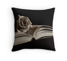 Literary Rose Throw Pillow