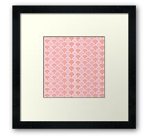 Girly pink coral modern scallop pattern Framed Print