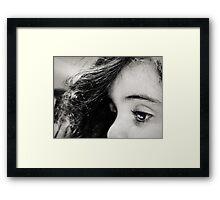 see her soul Framed Print