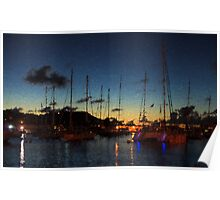 Gustavia, St. Barts Harbor Impressions Poster