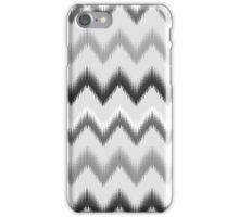Modern black white gray ikat pattern iPhone Case/Skin
