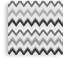 Modern black white gray ikat pattern Canvas Print