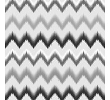Modern black white gray ikat pattern Photographic Print