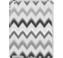 Modern black white gray ikat pattern iPad Case/Skin