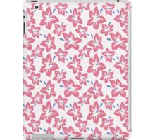 Trendy pink blue abstract tropical flowers iPad Case/Skin