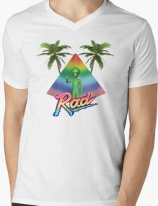 Rad Alien T-Shirt Mens V-Neck T-Shirt