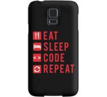 Eat Sleep Code Repeat  Samsung Galaxy Case/Skin