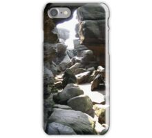 Cascade of light Brimham Rock Yorkshire iPhone Case/Skin