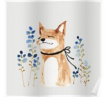 Fox and Flower Poster