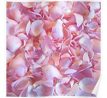 Girly pink chic cute rose petals floral pattern Poster