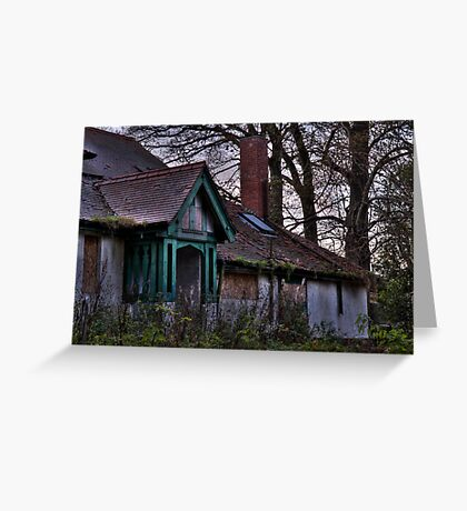 Derelict estate Greeting Card