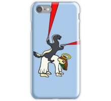 Honey Badger Riding Jesus iPhone Case/Skin