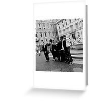 Posers Greeting Card