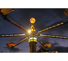 Hurricane in Motion (ride at Tamworth Show 2010) Photographic Print