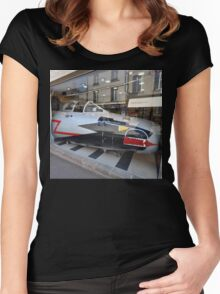 Jet Fighter Nose, Bayeux, France 2012 Women's Fitted Scoop T-Shirt