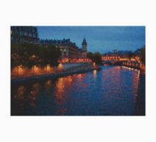 Impressions of Paris - Seine River at Night Kids Clothes