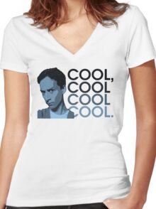 Abed - Cool, cool cool cool. Women's Fitted V-Neck T-Shirt