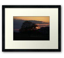 Sunset in Switzerland Framed Print