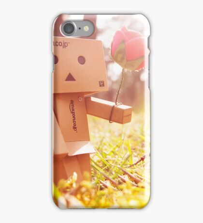 Danbo with flower iPhone Case/Skin